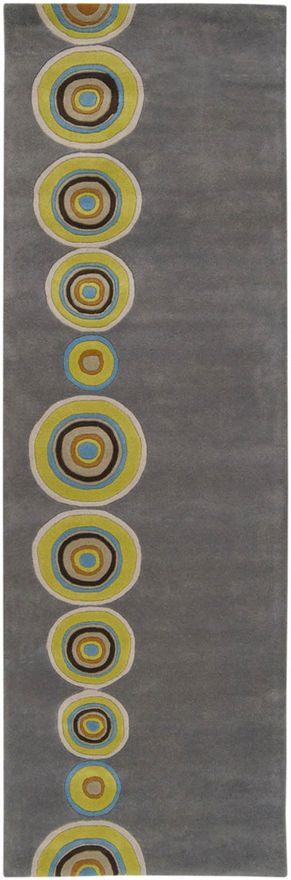 Charcoal, Lime, Sky Blue, Taupe, Ivory Contemporary / Modern Area Rug
