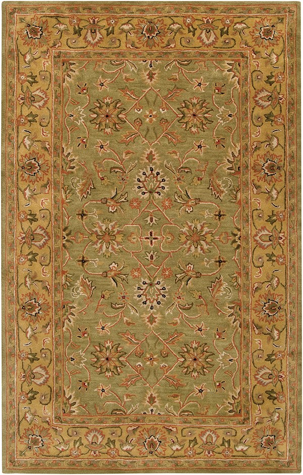 Fern, Gold Traditional / Oriental Area Rug
