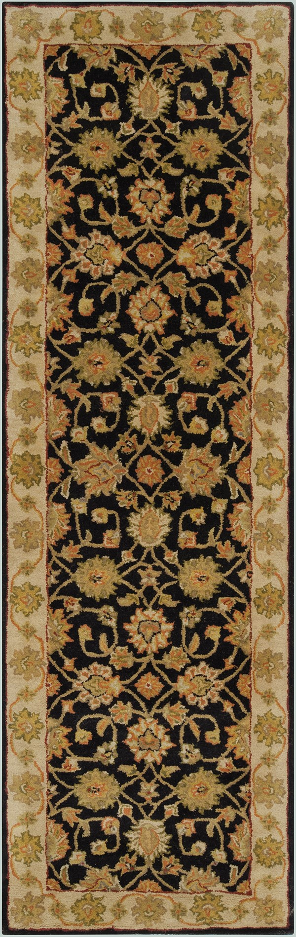 Black, Beige Traditional / Oriental Area Rug