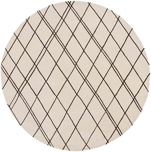 Khaki, Dark Brown Transitional Area Rug