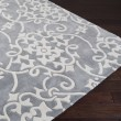 Product Image of Silver Gray Damask Area Rug