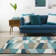 Product Image of Turquoise, Mossy Stone Blissful Blues Area Rug