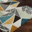 Product Image of Dove Gray, Sea Blue, Peanut Butter Contemporary / Modern Area Rug