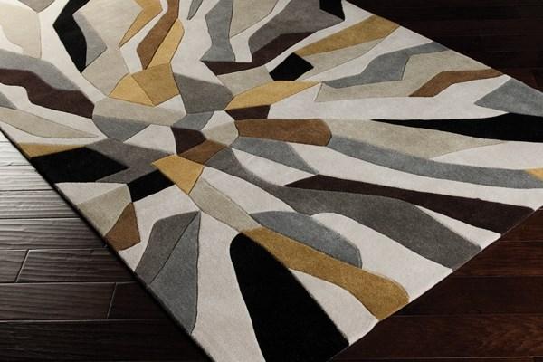 Split Pea, Gray Sage, Iron Ore Contemporary / Modern Area Rug