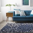 Product Image of Navy, Dark Blue, Khaki Contemporary / Modern Area Rug