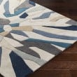 Product Image of Taupe, Navy, Ivory, Bright Blue, Denim Contemporary / Modern Area Rug