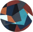 Product Image of Midnight Blue, Teal, Copper Penny Contemporary / Modern Area Rug