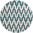 Product Image of Ice Blue, Turquoise, Silvered Gray Contemporary / Modern Area Rug