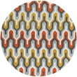 Product Image of Pewter, Orange Red, Foggy Blue Moroccan Area Rug