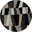 Product Image of White, Charcoal Gray, Caviar Contemporary / Modern Area Rug