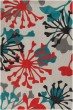 Product Image of Dove Gray, Orange Red, Sea Blue Contemporary / Modern Area Rug