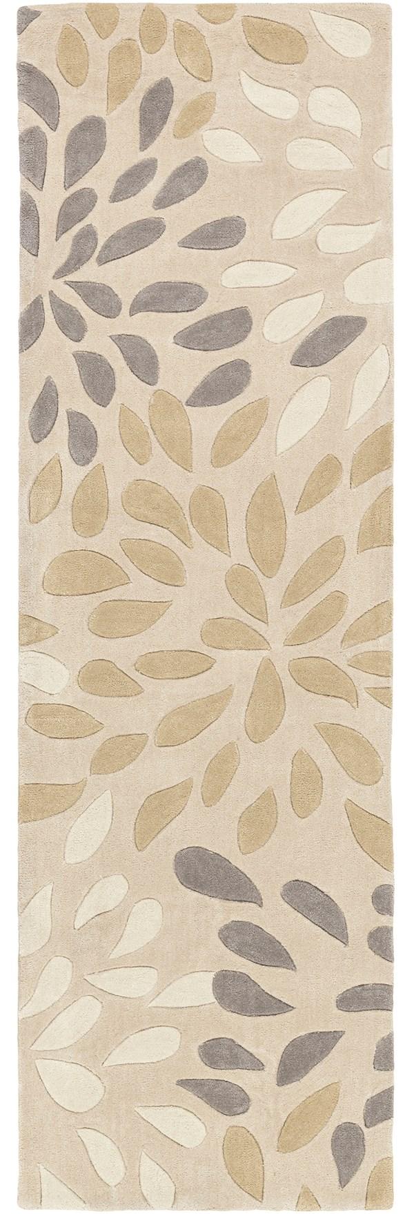 Beige, Khaki, Medium Gray, Cream Contemporary / Modern Area Rug