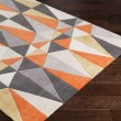 Product Image of Bright Orange, Charcoal, Taupe Contemporary / Modern Area Rug