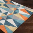 Product Image of Teal, Taupe, Cream, Khaki Contemporary / Modern Area Rug