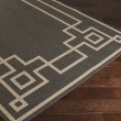 Product Image of Black, Camel, Cream Bordered Area Rug