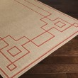 Product Image of Rust, Camel, Cream Bordered Area Rug