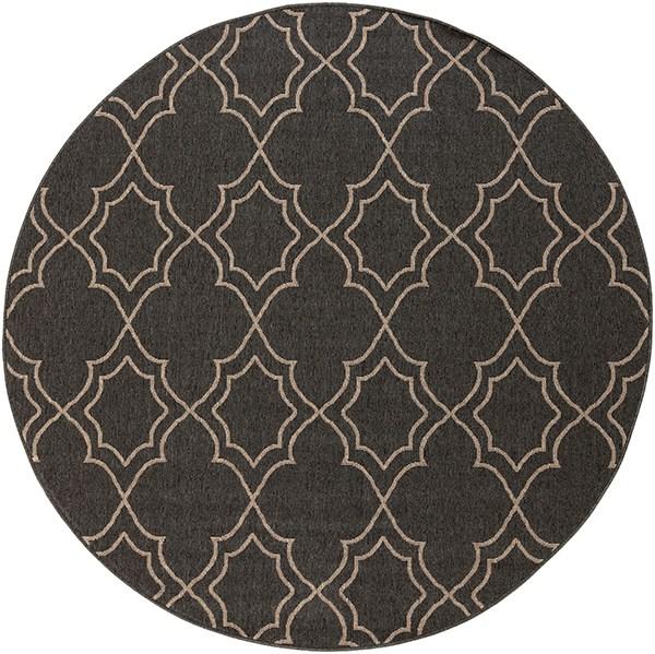 Black, Camel Moroccan Area Rug