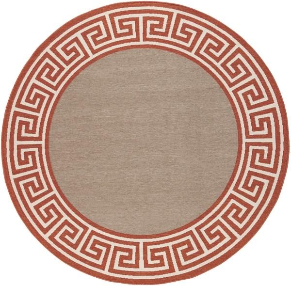 Copper, Camel, Cream Bordered Area Rug