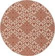Product Image of Rust, Cream Damask Area Rug