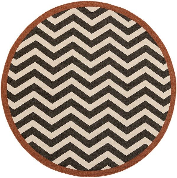 Black, Cream Chevron Area Rug