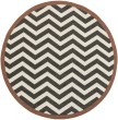 Product Image of Black, Cream Chevron Area Rug