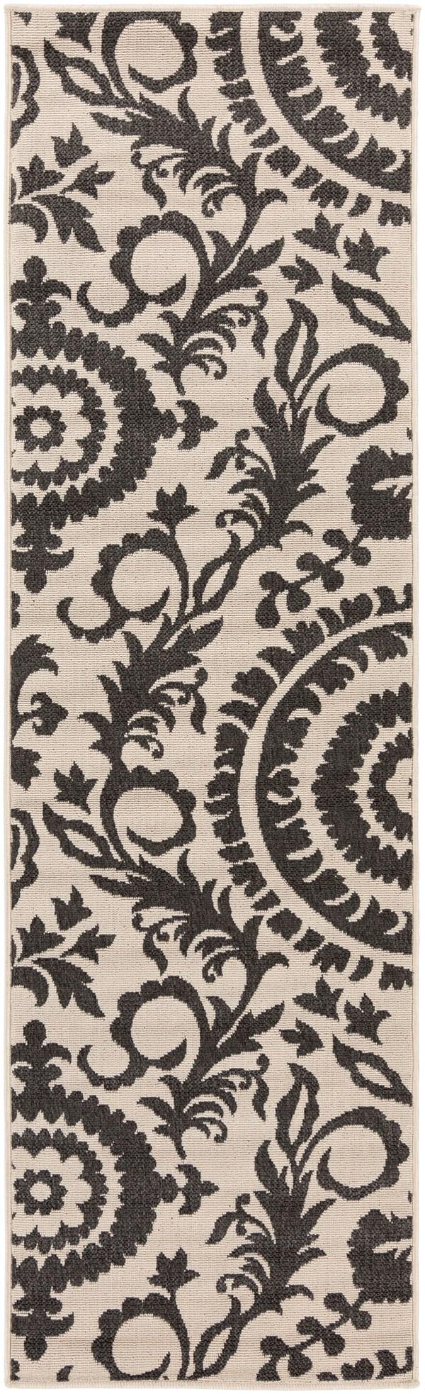 Black, Khaki Transitional Area Rug