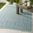 Product Image of Aqua, Teal, White Outdoor / Indoor Area Rug