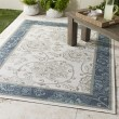 Product Image of Charcoal, White, Taupe, Aqua Outdoor / Indoor Area Rug