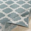 Product Image of Aqua, White Outdoor / Indoor Area Rug