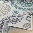 Product Image of Teal, Charcoal, White, Taupe Outdoor / Indoor Area Rug