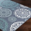 Product Image of Charcoal, Aqua, Teal, White Outdoor / Indoor Area Rug
