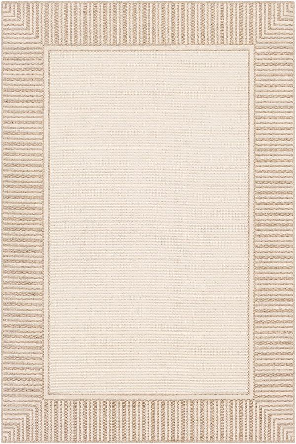 Camel, Cream Outdoor / Indoor Area Rug