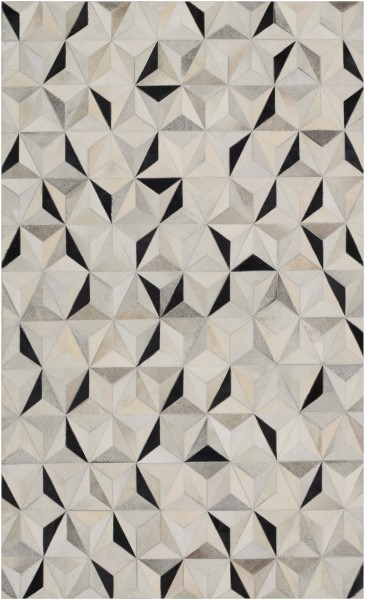 Charcoal, Medium Grey, Light Grey Animals / Animal Skins Area Rug