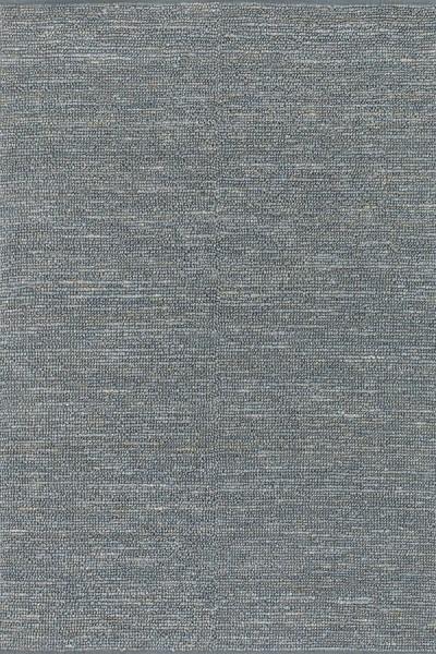 Gray Blue Natural Fiber Area Rug