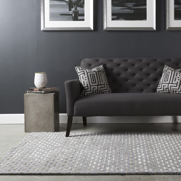 Medium Grey, Taupe Contemporary / Modern Area Rug