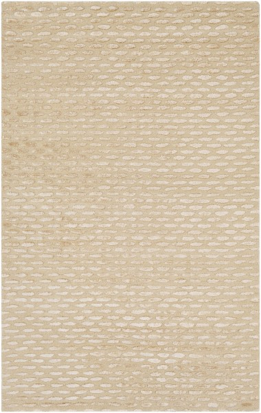 Cream, Beige  Solid Area Rug