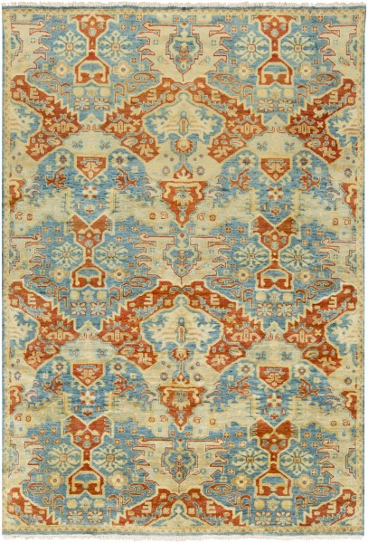 Teal, Rust, Gold, Olive Bohemian Area Rug