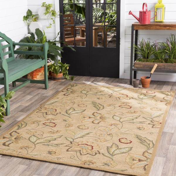 Beige, Tan  Outdoor / Indoor Area Rug