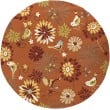 Product Image of Orange, Burnt Sienna, Moss Outdoor / Indoor Area Rug