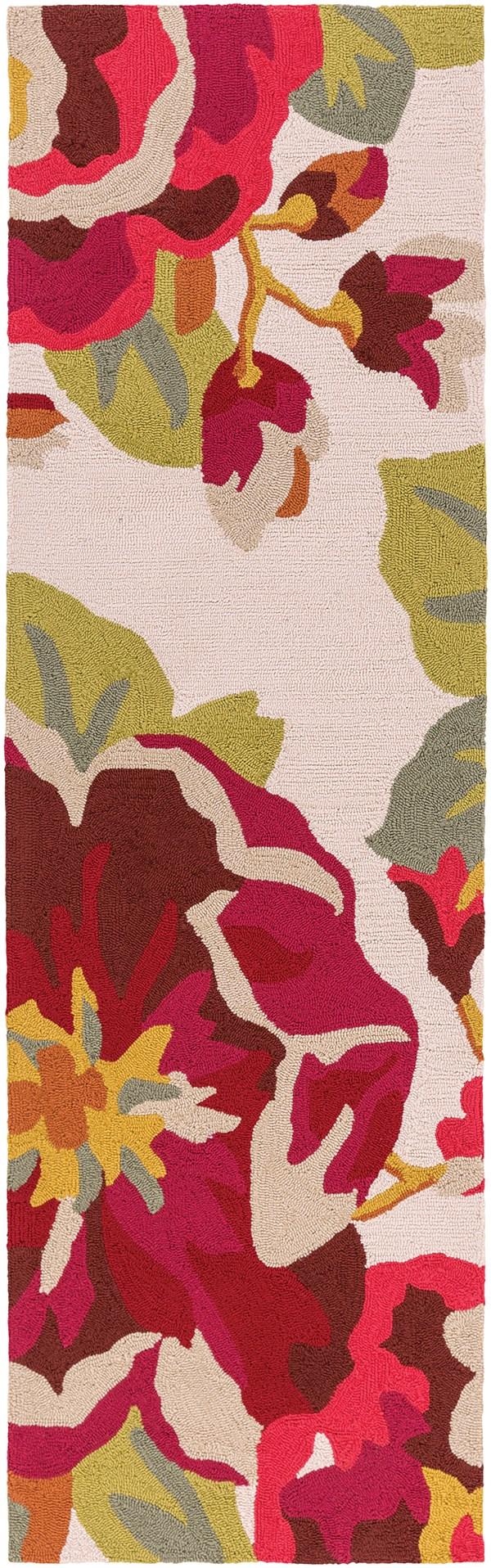 Cherry, Burgundy, Ivory Outdoor / Indoor Area Rug