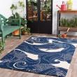 Product Image of Navy, Beige Outdoor / Indoor Area Rug