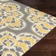 Product Image of Bright Yellow, Medium Gray Outdoor / Indoor Area Rug