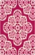 Product Image of Bright Pink, Bright Pink, Cream Outdoor / Indoor Area Rug