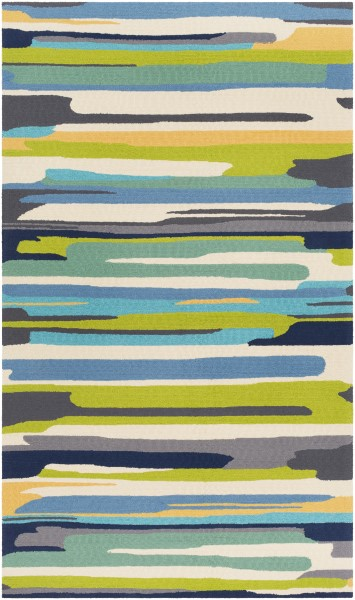 Emerald, Lime, Bright Yellow Outdoor / Indoor Area Rug