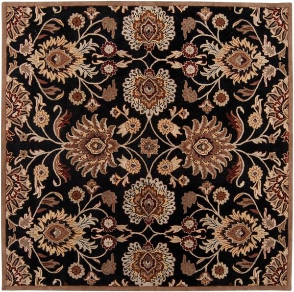 Black, Camel, Garnet, Tan, Burnt Orange Traditional / Oriental Area Rug