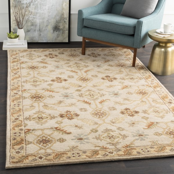 Khaki, Dark Brown, Olive, Camel Traditional / Oriental Area Rug