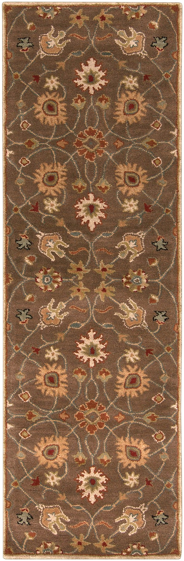 Dark Brown, Rust, Olive, Camel, Black Traditional / Oriental Area Rug