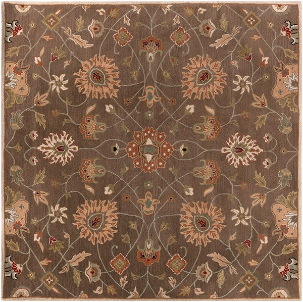 Dark Brown, Rust, Olive, Camel, Black Traditional / Oriental Area Rug