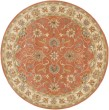 Product Image of Burnt Orange, Camel, Aqua, Medium Gray Traditional / Oriental Area Rug