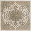 Product Image of Khaki, Medium Gray, Dark Brown Traditional / Oriental Area Rug